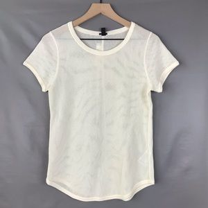 J. Crew Cotton Netting T-Shirt Sz M